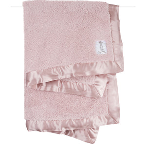 Little Giraffe - Chenille Baby Blanket - Dusty Pink