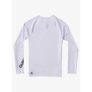 Quiksilver - Boy's 2-7 All Time Long Sleeve UPF 50 Rash Vest - White