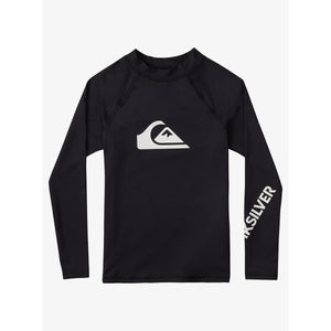 Quiksilver - Boy's 2-7 All Time Long Sleeve UPF 50 Rash Vest - Black