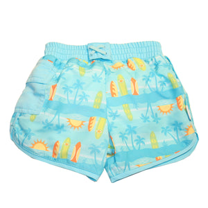 I Play - Pocket Board Shorts Swim Diaper - Aqua Surfboards