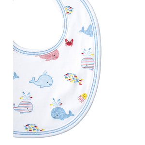 Kissy Kissy - Whale Of A Time - Print Bib - Blue