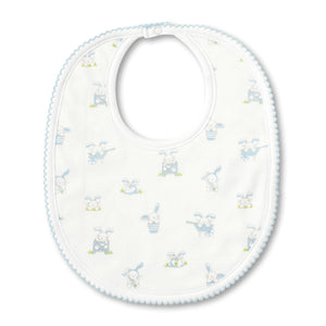 Kissy Kissy - Bunny Buzz - Print Bib - Light Blue
