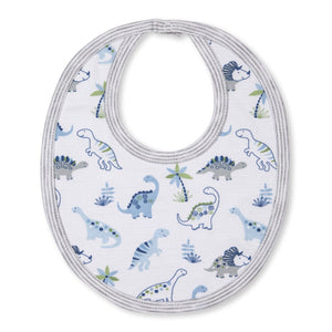 Kissy Kissy -Happy-Saurus -Reversible Bib -Multi