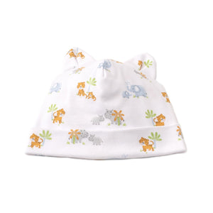 Kissy Kissy - Safari Siblings - Print Hat - Light Blue