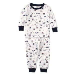 Kissy Kissy -PJs Outer Space -Print Pajama Set - Snug Fit -Blue