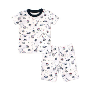 Kissy Kissy -PJs Outer Space -Print Short Pajama Set - Snug Fit -Blue