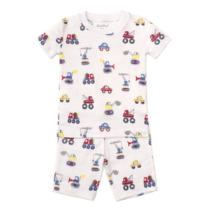 Kissy Kissy -PJs Trucks -Print Pajama Set - Snug Fit -Multicolored