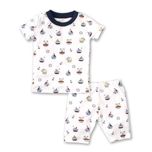 Kissy Kissy -Windjammers -Print Short PJ Set - Snug Fit -Multicolored