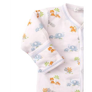 Kissy Kissy - Safari Siblings - Print Footie - Light Blue