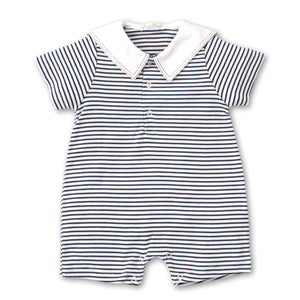 Kissy Kissy -Windjammers -Striped Short Playsuit with Collar -Navy