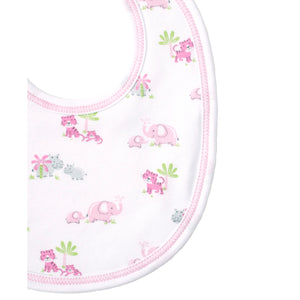 Kissy Kissy - Safari Siblings - Print Bib - Pink