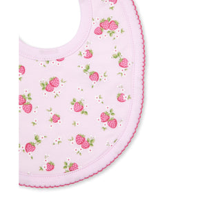 Kissy Kissy -Strawberry Soiree -Print Bib -Pink