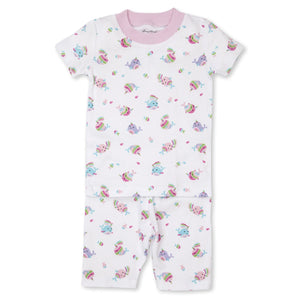 Kissy Kissy -Pjs Rainbow Narwhals -Print Short PJ Set - Snug Fit -Multi