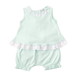 Kissy Kissy -Elegant Eyelet -Sunsuit Set -Mint
