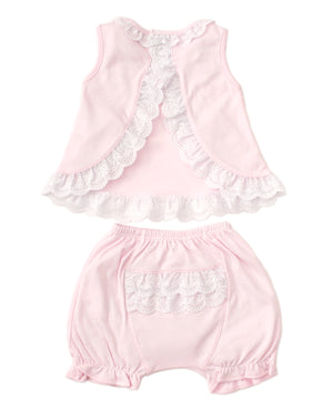 Kissy Kissy -Elegant Eyelet -Sunsuit Set -Pink