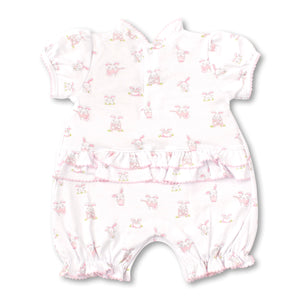 Kissy Kissy - Bunny Buzz - Print Short Playsuit - Pink