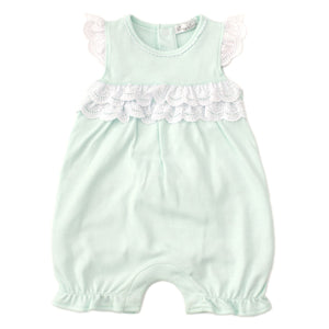 Kissy Kissy -Elegant Eyelet -Short Playsuit -Mint
