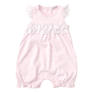 Kissy Kissy -Elegant Eyelet -Short Playsuit -Pink