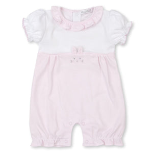 Kissy Kissy -Bunny Hugs -Striped Short Playsuit -Pink/White