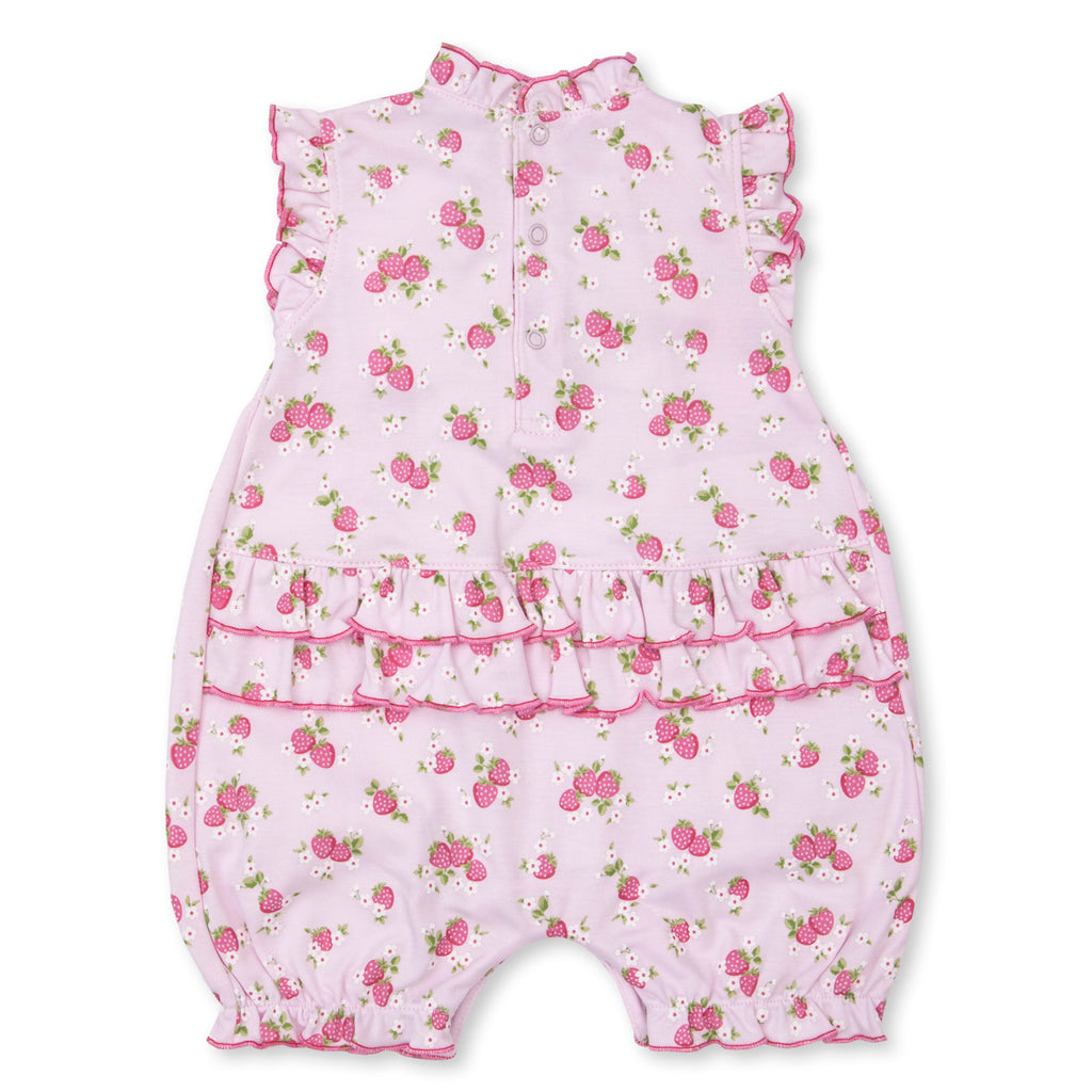 Kissy Kissy -Strawberry Soiree -Print Slvless Playsuit -Pink