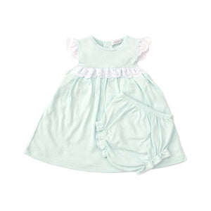 Kissy Kissy -Elegant Eyelet -Dress Set -Mint