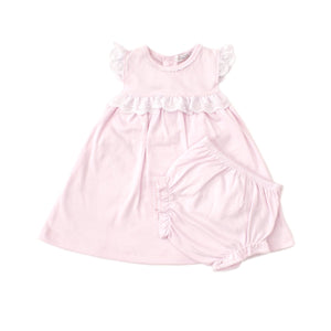 Kissy Kissy -Elegant Eyelet -Dress Set -Pink