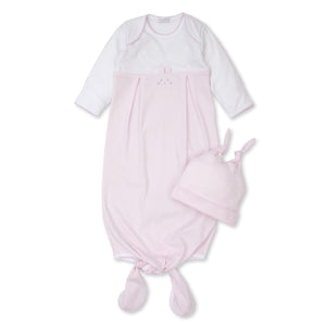 Kissy Kissy -Bunny Hugs -Striped Sack w/ Hat -Pink