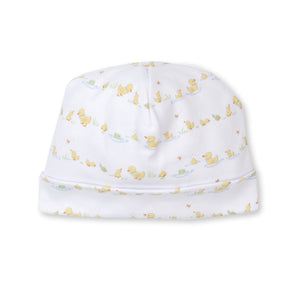 Kissy Kissy -Dilly Dally Duckies -Print Hat -Yellow