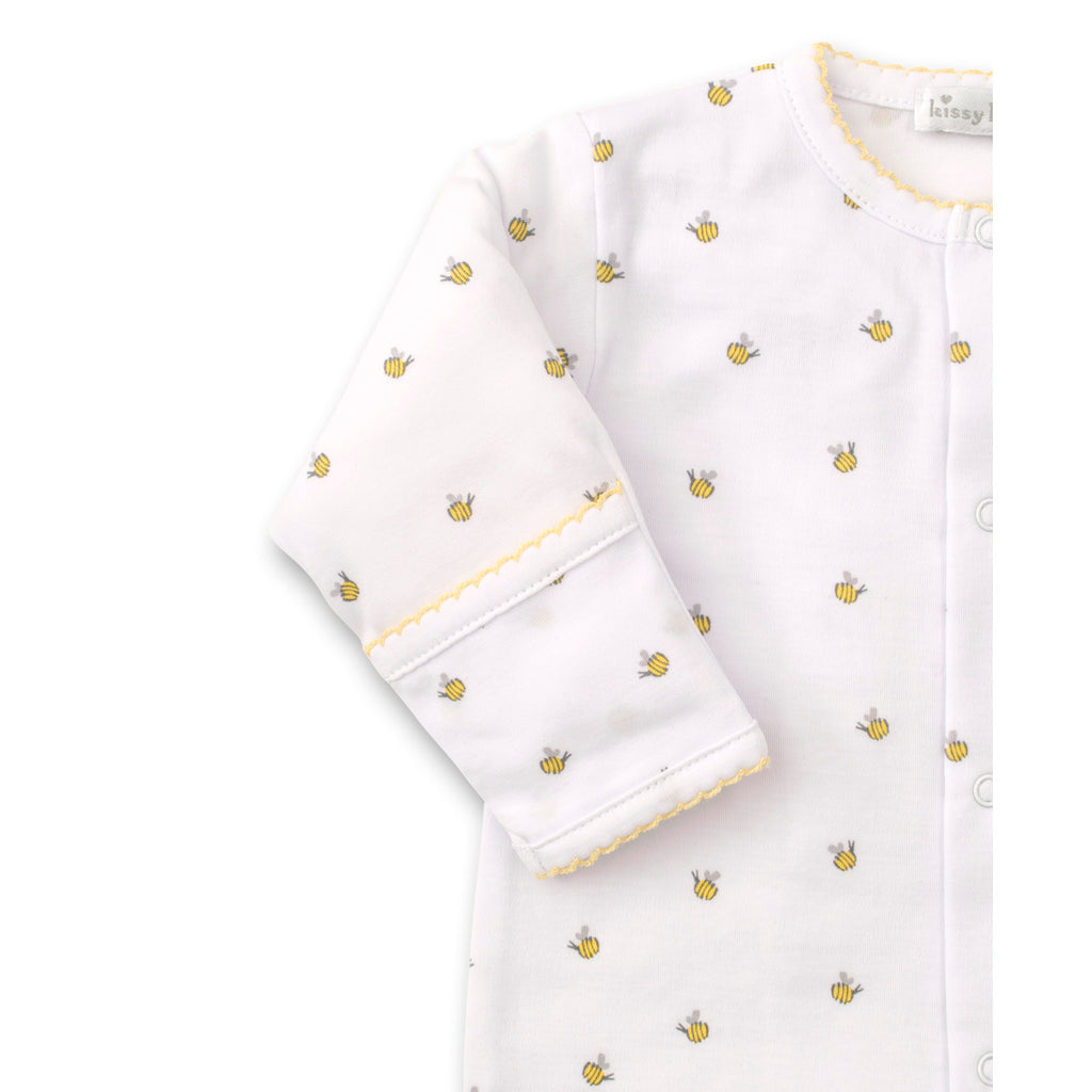 Kissy Kissy -Buzzing Bees -Print Footie -Yellow