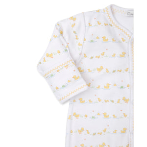 Kissy Kissy -Dilly Dally Duckies -Print Footie -Yellow