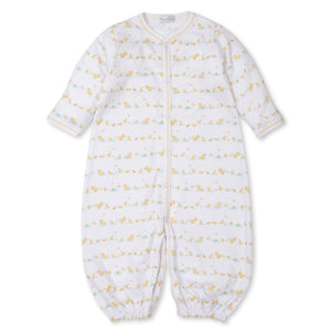 Kissy Kissy -Dilly Dally Duckies -Print Converter Gown -Yellow