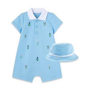 Little Me - Golf Romper and Hat