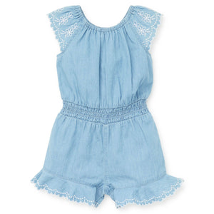 Little Me - Chambray Woven Romper