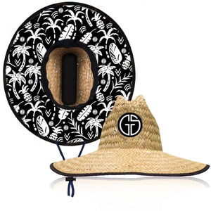 Grom Squad - Lifeguard Hat - Straw Palms