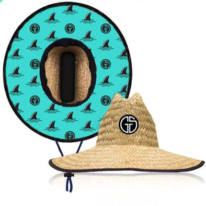 Grom Squad - Lifeguard Hat - Straw Sharky