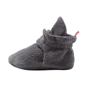Zutano - Cozie Fleece Gripper Baby Bootie - Gray