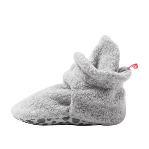 Zutano - Cozie Fleece Gripper Baby Bootie - Gray Heather