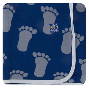 Kickee Pants-Print Swaddling Blanket-Flag BlueBigfoot