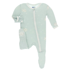 Kickee Pants-Print Footie with Zipper-Spring Sky Full Moon