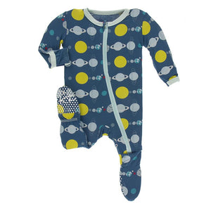 Kickee Pants-Print Footie with Zipper-Twilight Planets