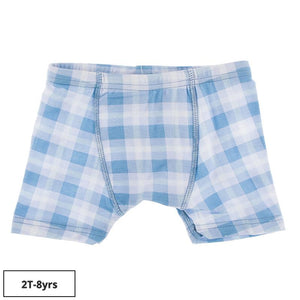 Kickee Pants-Print Boxer Brief-Blue Moon 2020 Holiday Plaid