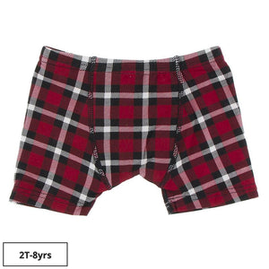 Kickee Pants-Print Boxer Brief-Crimson 2020 Holiday Plaid