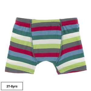 Kickee Pants-Print Boxer Brief-2020 Multi Stripe
