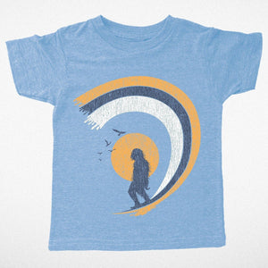 Tiny Whales - Surfin Sasquatch Short Sleeve Tee - True Blue