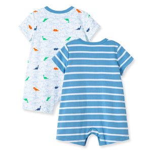 Little Me - Dino 2Pk Rompers