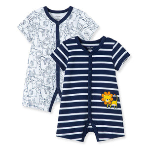 Little Me - Lion 2Pk Rompers