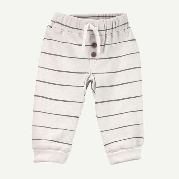 Jogger Pant | White and Gray Stripe