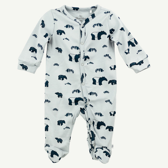 Footed Sleep and Play pima cotton | Blue Tapir