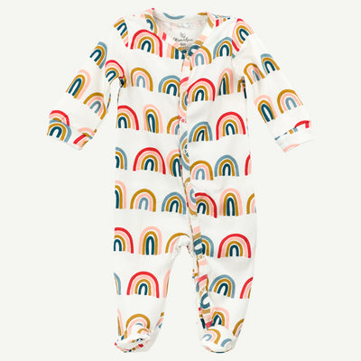 Rainbow pima cotton sleep and play