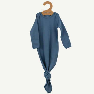 Pima cotton baby gown | Slate blue